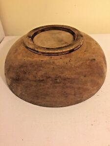 Vintage Wooden Hat Brim Block Mold No Markings