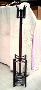 Hall Tree Coat And Hat Rack Umbrella Stand Arts And Crafts Style 1920 S Era