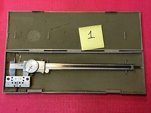 Mitutoyo Dial Caliper 12 Inch With Set Of Groove Ball Attachment Machinist Tools