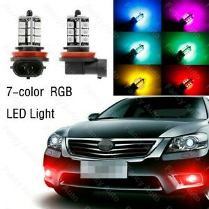 For Toyota Camry 2007 2014 Wireless Ir Remote Multi Color Rgb Led Fog Lights 2x