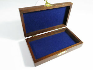 Restored Antique Solid Mahogany Storage Document Jewelry Box With Felt Lining