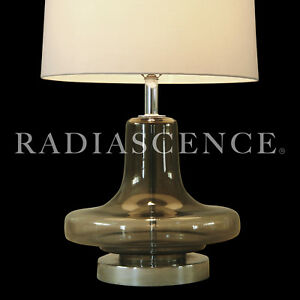 Atomic Modern Space Jet Age Blown Smoked Glass Erotic Table Lamp Murano Italy
