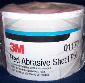 3m Red 1685 Stick It Adhesive Back Continuous Sheet Roll Sandpaper 180 Grit