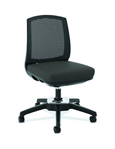 Hon Active Task Chair Armless Computer Chair For Office Desk Black Mesh