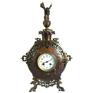 Antique French Parisian A D Mougin Aesthetic Movement Mantel Clock C 1890