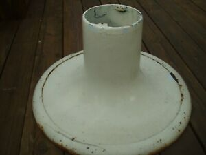 Original Koken Barber Chair Base And Trim Ring Base Part 540a Cast Porcelain
