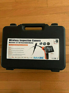 3 5 Wireless Inspection Camera With Color 3 5 Lcd Recordable Monitor