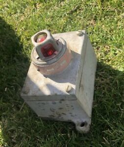 Vintage Crouse hinds Efs 252a Explosion Proof Assembly Single Red Pilot Light