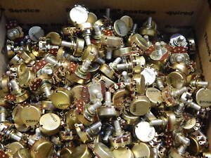 Solder Terminal 250k Ohm Potentiometer 2 Watt 3 4 Turn Linear lot Of 350 Pieces