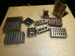 Collection Of Setup Blocks Angle Plates Machinist Tooling