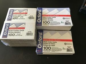 1000 Cards Oxford White Ruled Index Cards 3 x 5 40153 sp 600 4x6 Cards