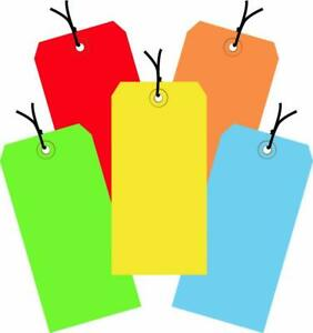 Aviditi Assorted Color 13 Point Shipping Tags Pre strung 4 3 4 X 2 3 8