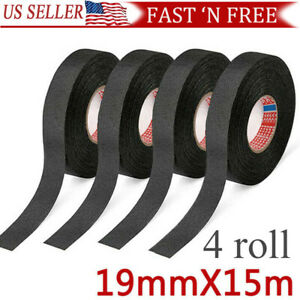 4 Rolls Cloth Tape Wire Electrical Wiring Harness Car Auto Suv Truck 19mm 15m