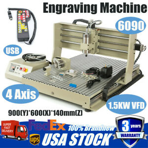 Usb 6090 Engraver Engraving Milling Machine Woodworking Metal 3d Cutter 1500w Rc