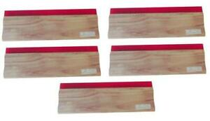 New Lot Of 5 13 Inch 33cm Oiliness Squeegee 75 Durometer