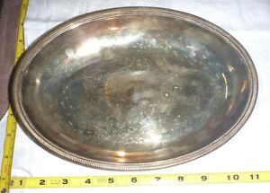 Vtg Jos Rodgers Sons Sheffield Silverplate Serving Dish 6081 Ep 11 Oval