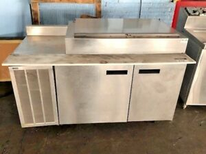 Used 2 Door Refrigerated Pizza Prep Table Restaurants Pizzeria Deli