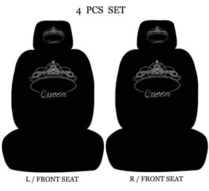 Car Seat Covers Headrest Cover Design Rhinestone Studded Universal Seat Covers