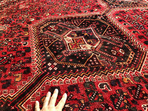 7x10 Antique Persian Rug Hand Knotted Caucasian Wool Foundation Tribal Rugs 6x9