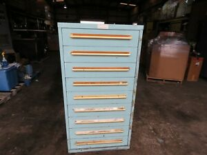 Equipto 9 Drawer Cabinet W Misc Electrical Fuses Etc