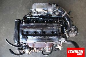 Jdm Mazda Protege Bp Turbo Motor 1 8l Engine 5 Speed Manual Trans Garrett Tial