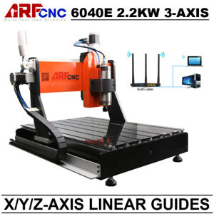 Cnc 6040 3axis 2200w Milling Drilling Cutting Machine With Linear Guide