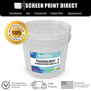 Ecotex Discharge White Water Based Ink For Screen Printing Gallon 128 Ounces