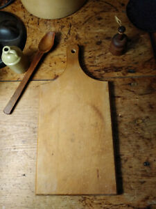 Antique Vintage Style Wood Bread Board With Light Use