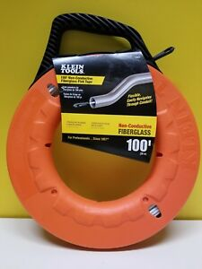 Klein Tools 56023 100 Non conductive Fiberglass Fish Tape New With Tags