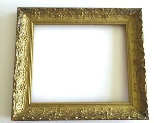 Antique Victorin Ornate Carved Gilt Gold Wood Painting Art Photo Frame 15 X 13