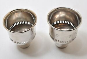 Sterling Silver International Hurricane Glass Holder Inserts For Candle Sticks