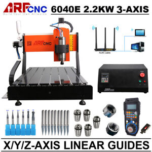 Cnc 3axis 6040e Router 2 2kw Spindle Engraving Milling Machine Xyz Linear Guide