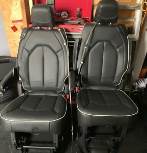 2017 18 Chrysler Pacifica Van Rear 2nd Row Leather Bucket Stow And Go Seats Set