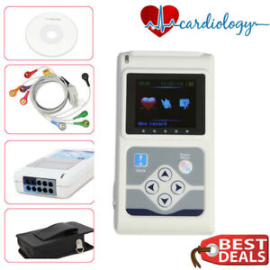 Portable Dynamic Holter System 12 Channel Ecg Ekg Machine Holter Newest 2019 Usa