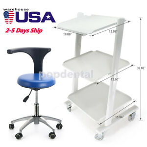 Dentist Doctor Assistant Stool Adjustable Mobile Chair Pu Leather medical Cart