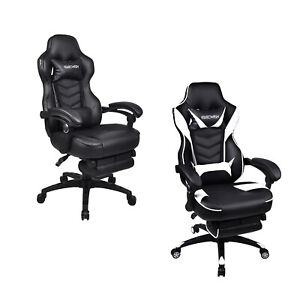 Ergonomic High Back Office Racing Gaming Chair Computer Bucket Seat Recline Tilt
