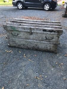 Antique Vanderman 1890s Railroad Industrial Factory Trunk Chest Coffee Table 51