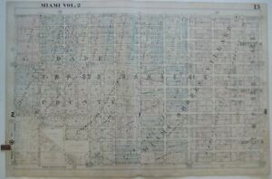 Original 1948 Hopkins Miami Shores Plat Map 13 Pinewood Park Florida Stores
