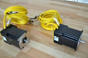 New Lot Of 2 Parker Be342hj Nema34 Brushless Servo Motors 1100w With 10ft Cables