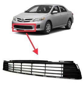 For 2011 2013 Toyota Corolla Replacement Front Bumper Lower Grille Grill