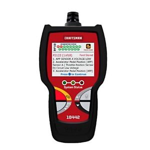 New Craftsman Diagnostic Scan Tool Car Scanner Code Reader Auto Engine Obd2 Abs