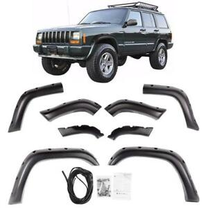 84 01 Jeep Cherokee Xj 4dr Pocket Rivet Style Abs Fender Flares Wheel Cover