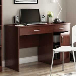 South Shore Axess Collection 43 75w In Small Desk Royal Cherry Royal Cherry