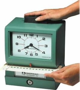 Acroprint 01 1070 411 Model 125nr4 Heavy duty Manual Print Time Recorder Prin