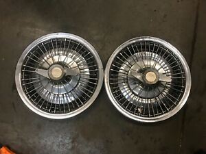 1965 1966 Pontiac Gto Wire Wheel Cover Spinner Hubcaps Matching Set Of 4 14 65