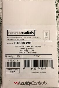 Acuity Lithonia Sensor Switch Pts 60 Wh Programmable Timer Switch 60 Min White