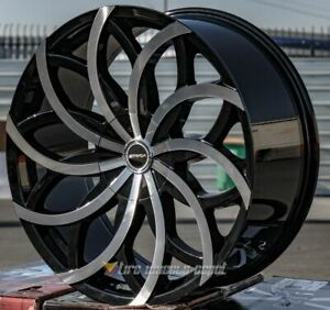 22 Inch Strada Huracan Bmf Wheels Tires Fits Bmw 5x120 Low Offset 15