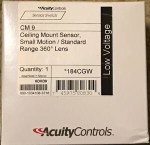 Acuity Sensor Switch Cm 9 Occupancy Sensor pir 452 Sq Ft white Standard Range