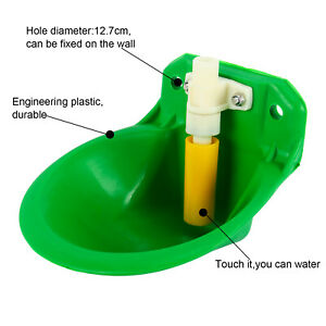 Plastic Automatic Drinker Water Bowl Goat Sheep Piglet Cattle Livestock Fastship
