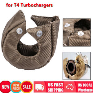 For T4 Gt40 Gt42 Gt45 Turbo Blanket Turbocharger Heat Shield Cover Wrap Us Stock